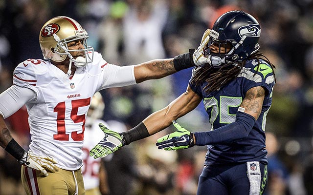 Michael Crabtree and Richard Sherman have been at odds for some time. (USATSI)