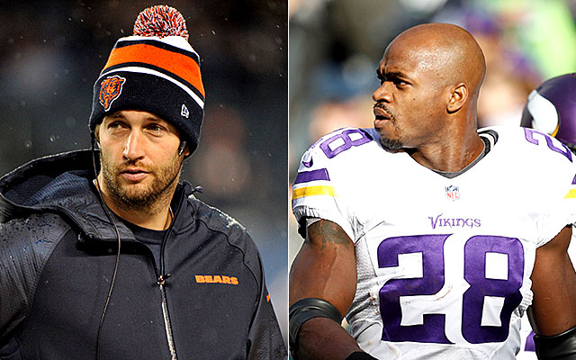 NFL Week 13 Injuries: Jay Cutler out, Adrian Peterson in