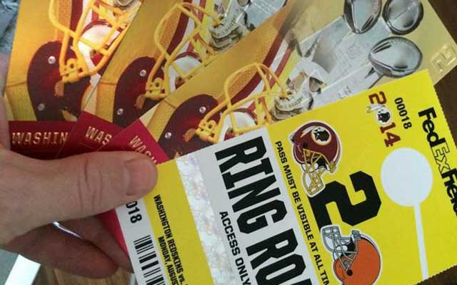 Dale Earnhardt Jr. will be taking in his beloved Redskins tonight.