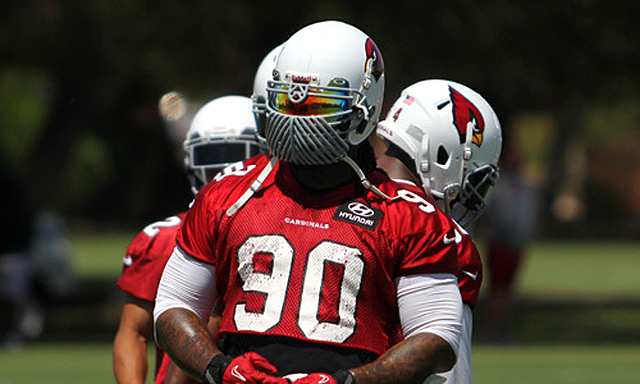 Don't get used to seeing this type of facemask. (AZCardinals.com)