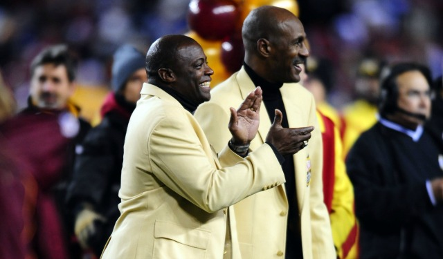 Darrell Green, left, and Art Monk want Washington's nickname to stay the same. (USATSI)