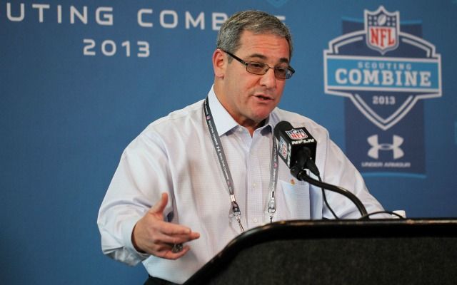 Dave Gettleman has been doing some wheeling and dealing. (USATSI)