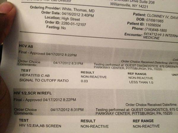 david clowney tweets hiv test results. Black Bedroom Furniture Sets. Home Design Ideas