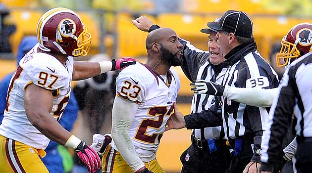 Hall is no longer a member of the Redskins. (USATSI)