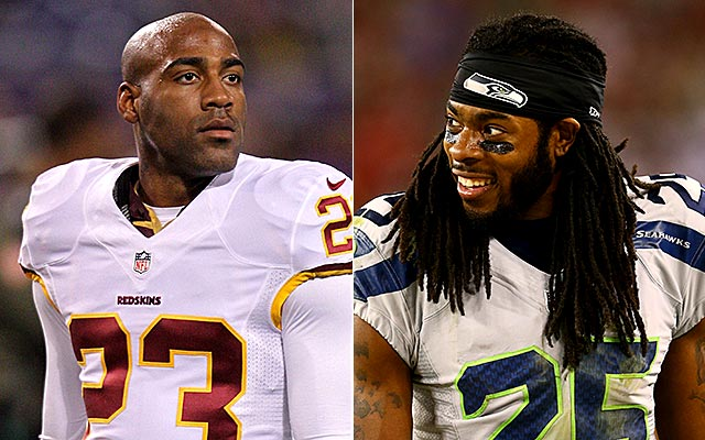 DeAngelo Hall says better than Richard Sherman in man-to-man coverage. (USATSI)
