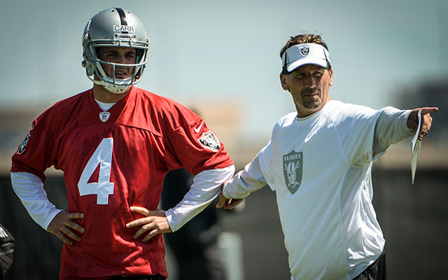 Only a month on the job and Derek Carr is making his way up the depth chart. (USATSI)