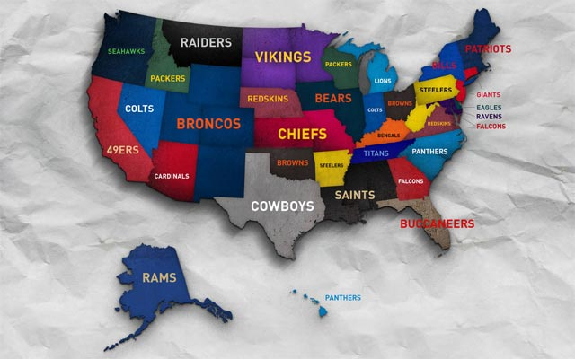 Professional Sports Teams By State Map.Infographic Jersey Sales Stats By State Reveal Interesting Results