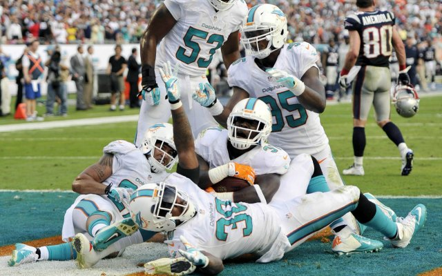 Michael Thomas, with his interception, had a fantastic Dolphins debut. (USATSI)