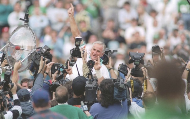 Don Shula celebrates win No. 325 in 1993. (Getty Images)
