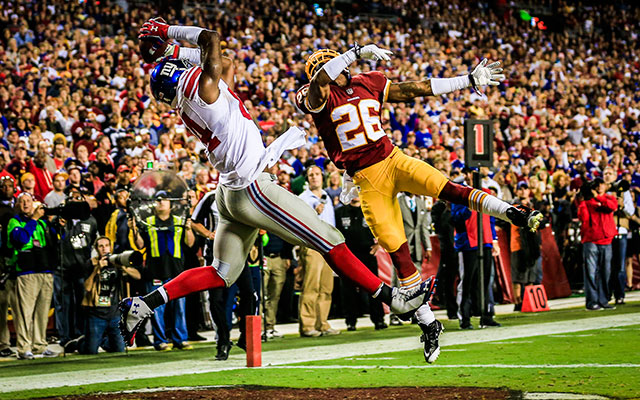 Larry Donnell is a better pass-catcher than he is a fantasy football GM. (Getty Images)