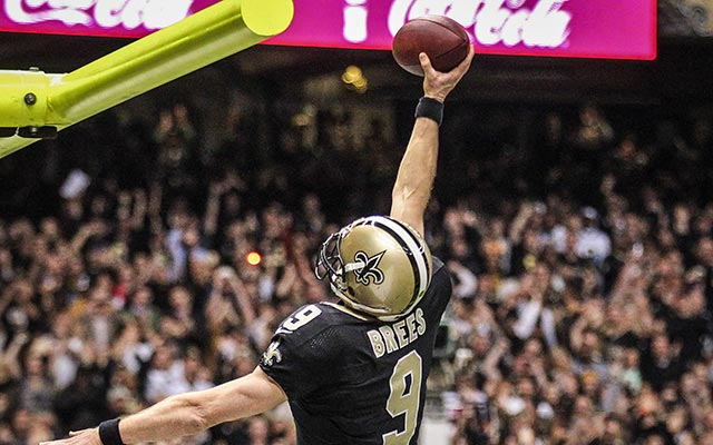 You'll never see Drew Brees dunk a football ever again. (USATSI)