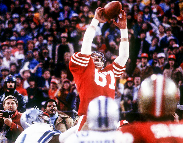 On Jan. 10, 1982, Dwight Clark made one of the greatest catches in NFL postseason history. (Getty Images)