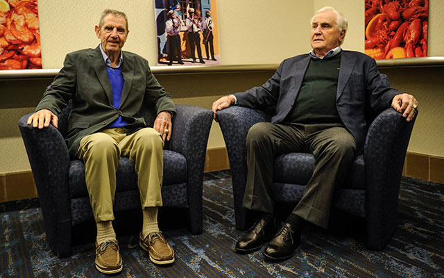 Earl Morrall (left) and Don Shula in February 2013. (USATSI)