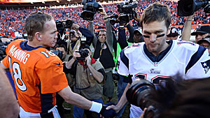 Peyton Manning and Tom Brady (USATSI)
