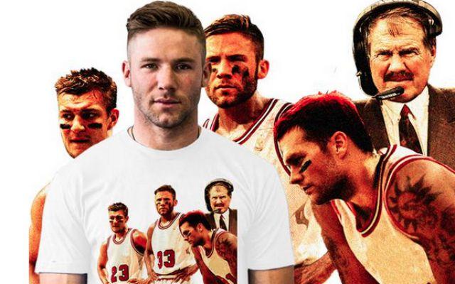 LOOK: Julian Edelman creates 'Slottie Pippen' shirt with Patriots as Bulls