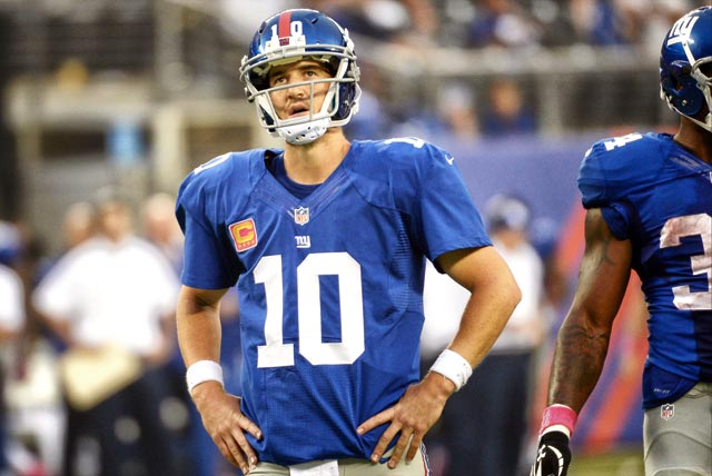 Eli Manning threw a career-high 27 interceptions in 2014. (USATSI)