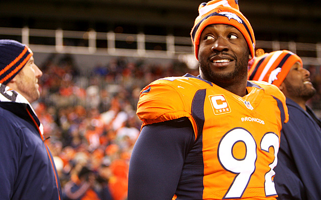 There's a chance Dumervil returns, but at what price? (USATSI)