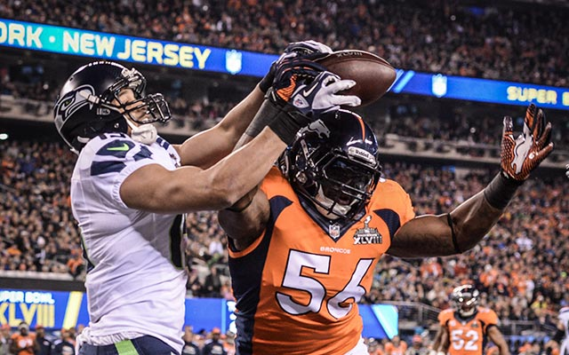 Easily the best play of the first half for the Broncos: a pass defended in the end zone. (USATSI)