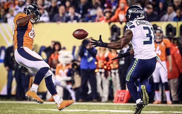 Kam Chancellor was the first to intercept Manning on the night. (USATSI)
