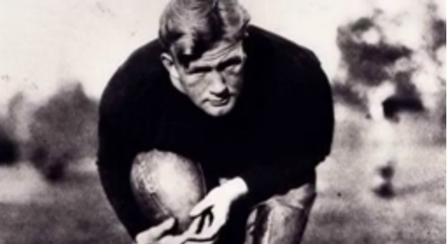 Ernie Nevers was a force in three different sports, but especially on the football field. (YouTube/Pro Football HOF)