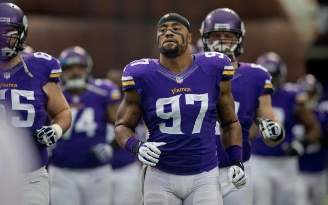 Everson Griffen will return to Minnesota. (USATSI)