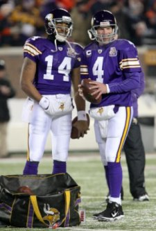 Hopefully, B. Favre and J. Webb won't have a Minnesota reunion this year (US Presswire).