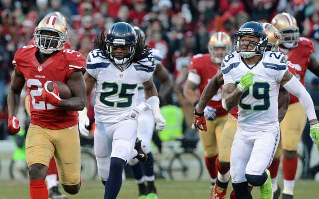 Frank Gore ran for 110 yards to power the Niners win Sunday.(USATSI)