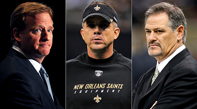 Sean Payton and Mickey Loomis will have their appeals heard by Roger Goodell on Tuesday (AP/US Presswire