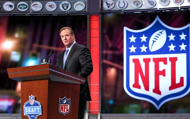 Goodell could be standing at a draft podium in late May in coming years. (USATSI)