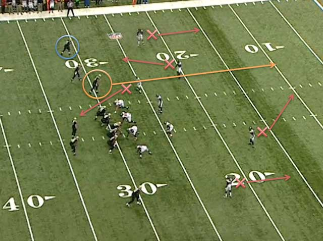 Jimmy Graham is in the blue circle. (NFL Game Rewind)