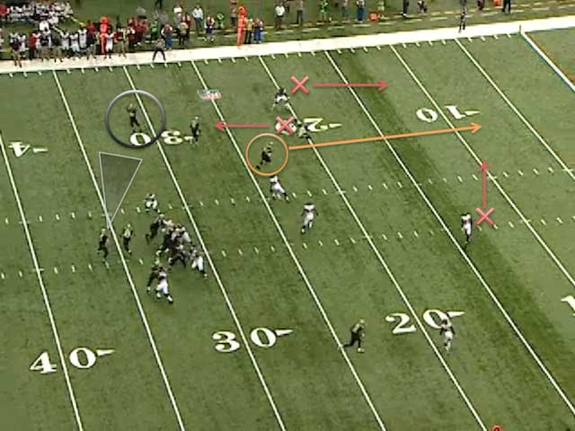 Jimmy Graham down the seam for the score. (NFL Game Rewind)