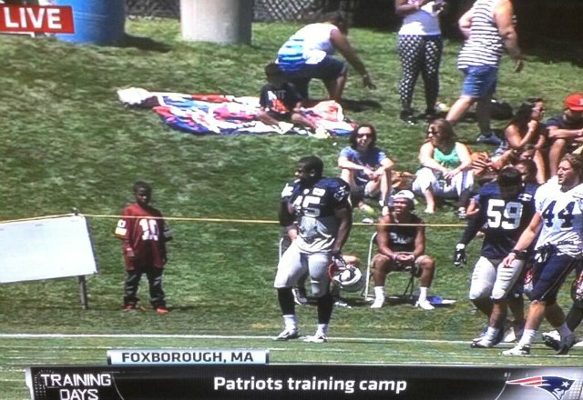 RG3 impersonator making an appearance at New England's practice. (NFL Network)