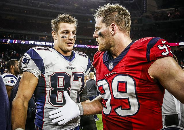 Little brothers of Rob Gronkowski and J J  Watt hoping for