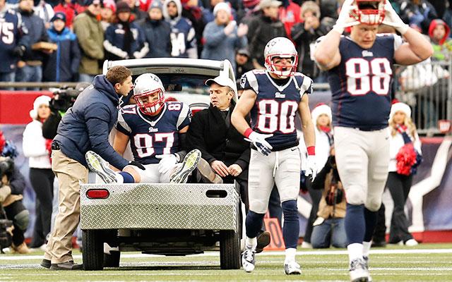 Despite Rob Gronkowski's ACL injury, the NFL says knee injuries have decreased. (USATSI)