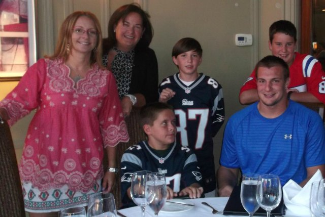 Gronkowski out in the community. (Good Works, via Boston Globe)