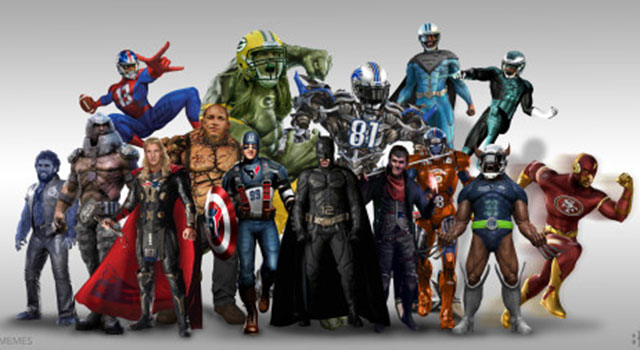look nfl stars as your favorite super heroes   cbssports
