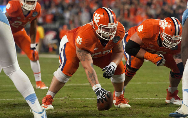 Jay Guillermo anchors Clemson's offensive line. (USATSI)