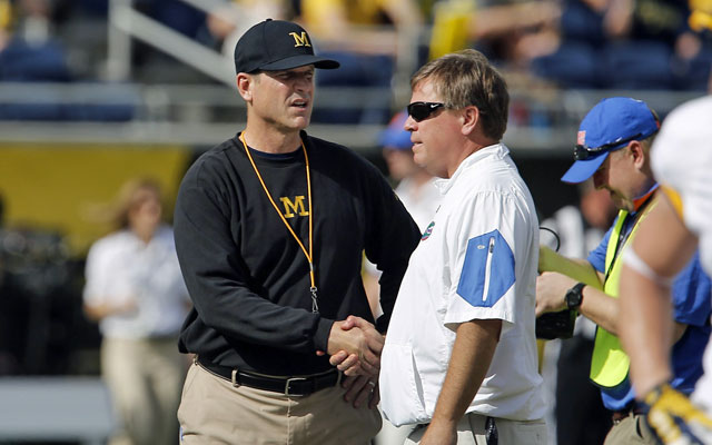 Jim Harbaugh's already had success in Florida with a Citrus Bowl win. (USATSI)