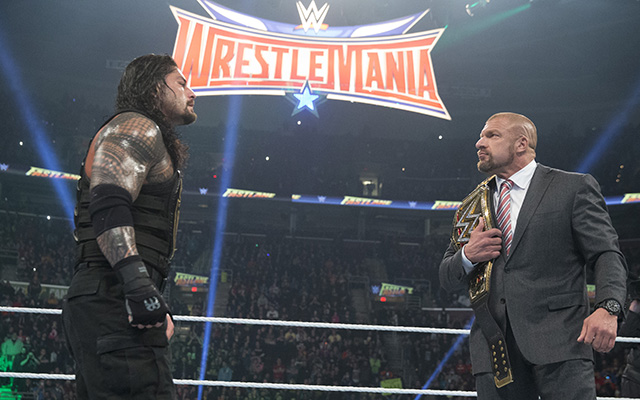 Roman Reigns and Triple H will square off in the main event. (WWE)
