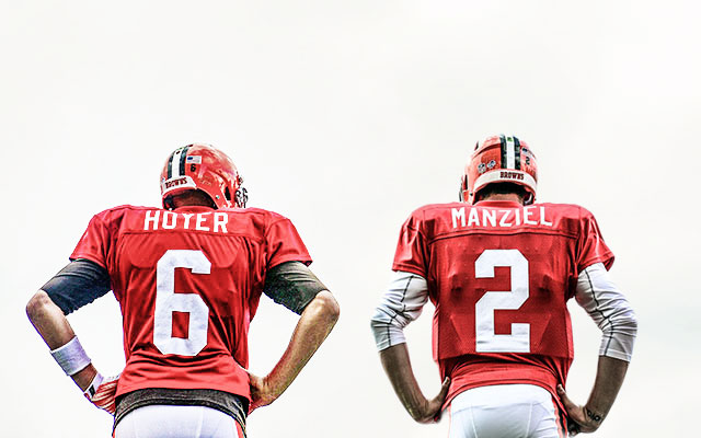 And so it begins: Brian Hoyer or Johnny Manziel? (USATSI)
