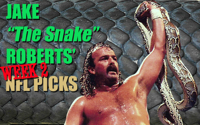 Jake The Snake Roberts took a comfortable Week 1 lead over Dave Richard in their picks competition.