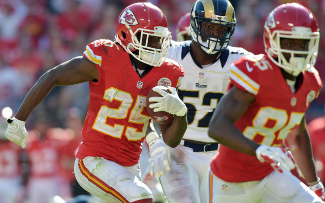Jamaal Charles has eight rushing TDs in 2014.