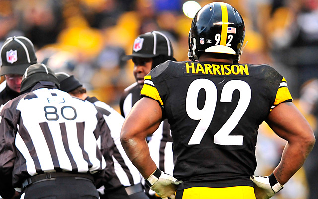 After 10 seasons in Pittsburgh, Harrison's looking for a new home.  (Getty Images)