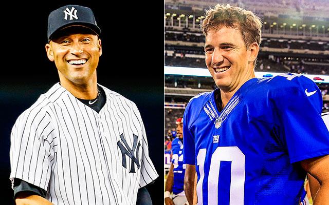 Derek Jeter has been a role model for Eli Manning. (Getty Images)