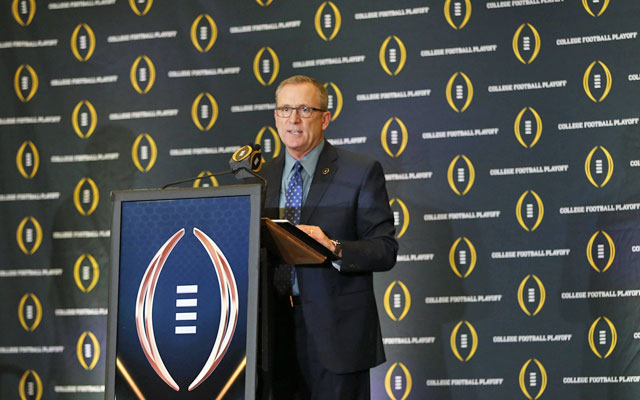 Jeff Long will not be standing at this podium in 2017. (USATSI)