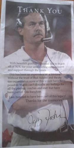 Jeff Fisher's ad in the Tennessean.
