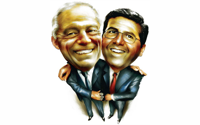 The friendship between Daniel Snyder and Jerry Jones dates back to the late 1990s. (Dallas Morning News)