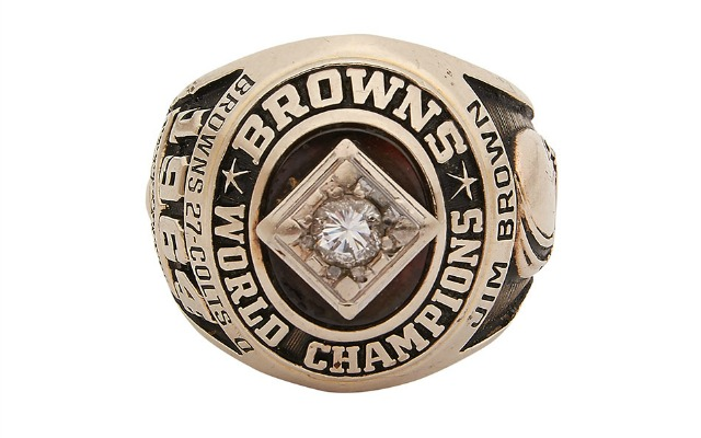 This is Jim Brown's 1964 NFL title ring that's currently up for auction. (Lelands.com)