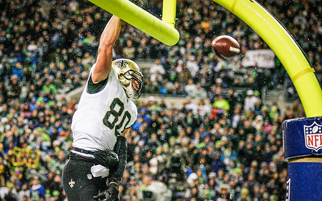 Jimmy Graham is going to have to find a new touchdown celebration. (USATSI)