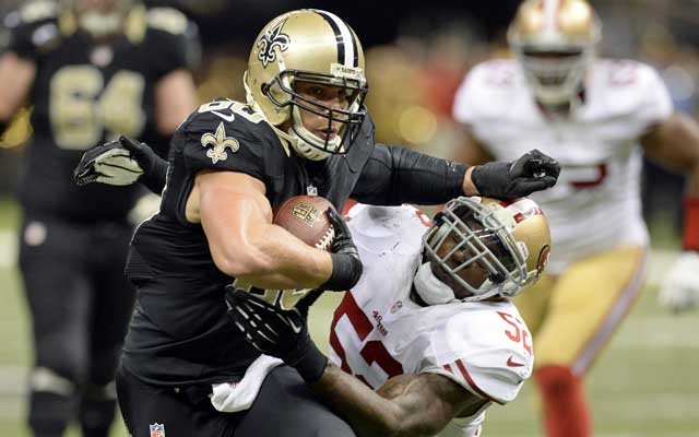 Jimmy Graham has been targeted 91 times so far this season..(USATSI)